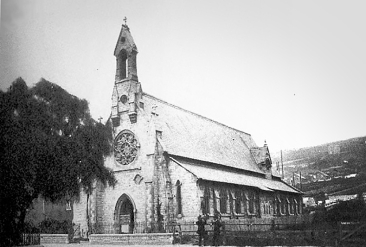 A very rare and early photograph of St Paul's church